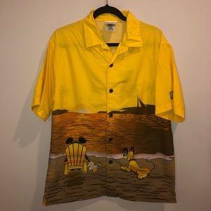 Disney hang loose button down shirt all over Print